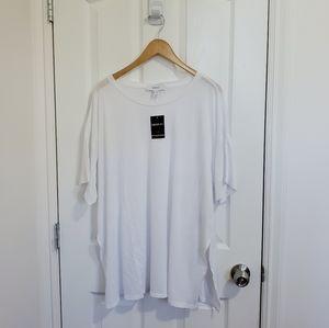 Forever 21 Plus Baggy White T-Shirt w/ Side Slits